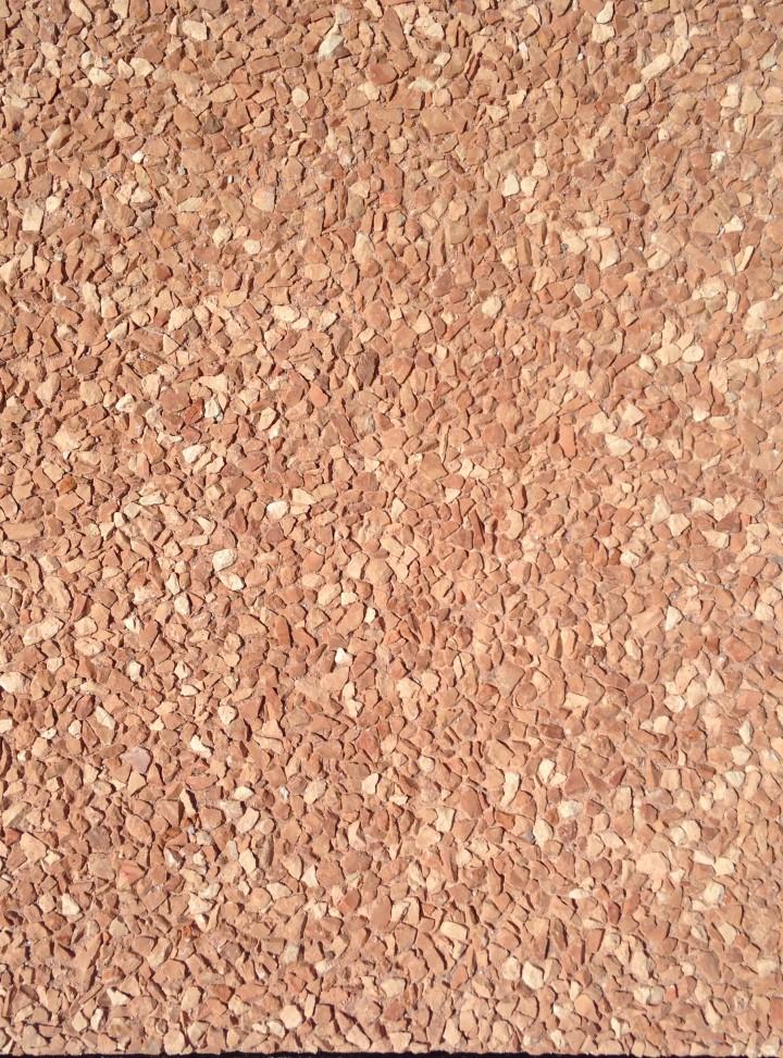 Piastra in cemento e graniglie  - DOPO