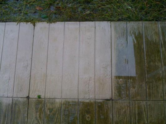 Piastre cemento - lavaggio con antimuffa 2